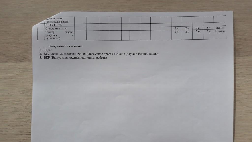 график учебного процесса (заочно) 2